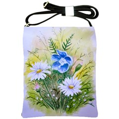 Meadow Flowers Shoulder Sling Bag by ArtByThree