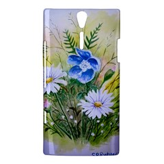 Meadow Flowers Sony Xperia S Hardshell Case  by ArtByThree