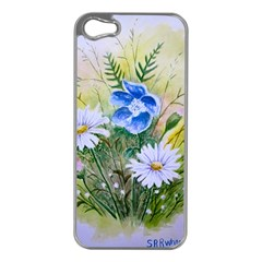 Meadow Flowers Apple Iphone 5 Case (silver)