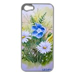 Meadow Flowers Apple iPhone 5 Case (Silver) Front