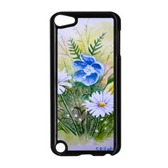 Meadow Flowers Apple Ipod Touch 5 Case (black) by ArtByThree