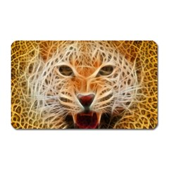 Electrified Fractal Jaguar Magnet (rectangular) by TheWowFactor