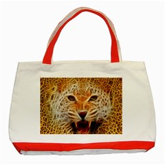 Electrified Fractal Jaguar Classic Tote Bag (red) by TheWowFactor