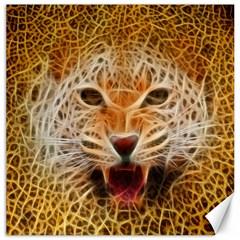 Electrified Fractal Jaguar Canvas 20  X 20