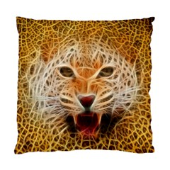 Electrified Fractal Jaguar Cushion Case (one Side) by TheWowFactor
