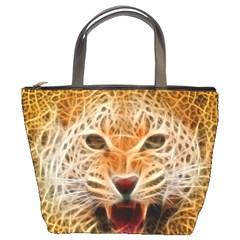 Electrified Fractal Jaguar Bucket Bag by TheWowFactor