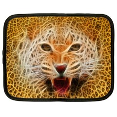 Electrified Fractal Jaguar Netbook Case (xxl) by TheWowFactor