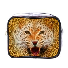 Electrified Fractal Jaguar Mini Toiletries Bag (one Side) by TheWowFactor
