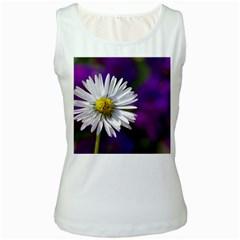 Daisy Womens  Tank Top (white) by Siebenhuehner