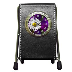 Daisy Stationery Holder Clock by Siebenhuehner