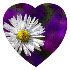 Daisy Jigsaw Puzzle (heart) by Siebenhuehner