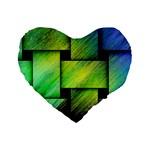 Modern Art 16  Premium Heart Shape Cushion  Front