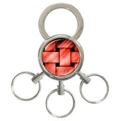 Modern Art 3 Ring Key Chain by Siebenhuehner