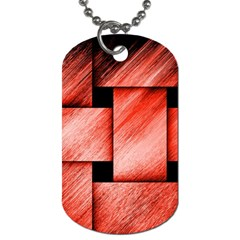 Modern Art Dog Tag (one Sided) by Siebenhuehner