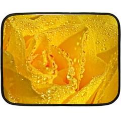 Waterdrops Mini Fleece Blanket (two Sided) by Siebenhuehner
