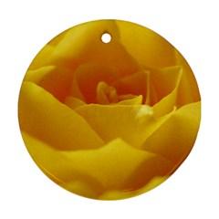 Yellow Rose Round Ornament by Siebenhuehner