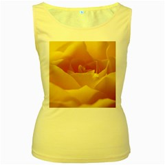 Yellow Rose Womens  Tank Top (yellow) by Siebenhuehner