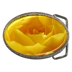 Yellow Rose Belt Buckle (oval)