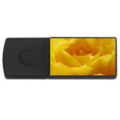Yellow Rose 4gb Usb Flash Drive (rectangle) by Siebenhuehner