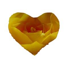 Yellow Rose 16  Premium Heart Shape Cushion  by Siebenhuehner