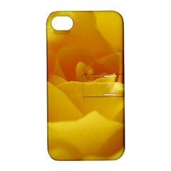 Yellow Rose Apple Iphone 4/4s Hardshell Case With Stand by Siebenhuehner