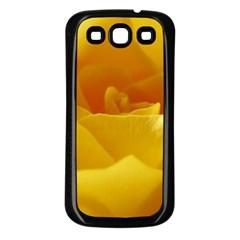 Yellow Rose Samsung Galaxy S3 Back Case (black) by Siebenhuehner
