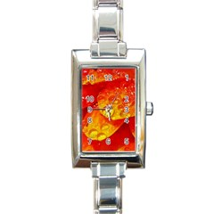 Waterdrops Rectangular Italian Charm Watch by Siebenhuehner