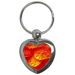 Waterdrops Key Chain (heart) by Siebenhuehner