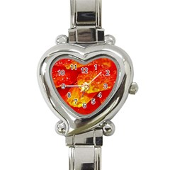 Waterdrops Heart Italian Charm Watch  by Siebenhuehner