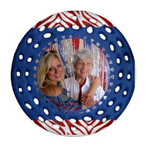 Ornament Barbara  By Pat Kirby   Ornament (round Filigree)   Xy7mfxlj5n3k   Www Artscow Com Front