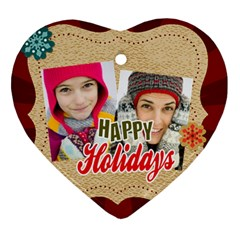 Merry Christmas By Merry Christmas   Heart Ornament (two Sides)   Yfnra523lpzb   Www Artscow Com Back
