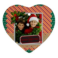 Merry Christmas By Merry Christmas   Heart Ornament (two Sides)   5jkym3ossqxl   Www Artscow Com Front