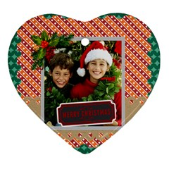 Merry Christmas By Merry Christmas   Heart Ornament (two Sides)   5jkym3ossqxl   Www Artscow Com Back