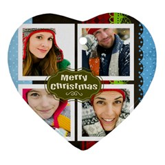 Merry Christmas By Merry Christmas   Heart Ornament (two Sides)   N8dwe7u0mkde   Www Artscow Com Back