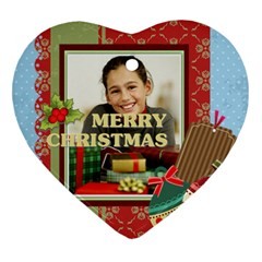 Merry Christmas By Merry Christmas   Heart Ornament (two Sides)   Tzusbhi4663h   Www Artscow Com Back