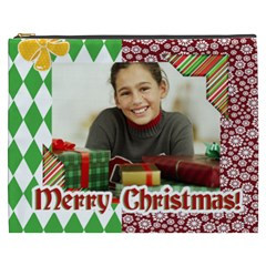 Merry Christmas By Merry Christmas   Cosmetic Bag (xxxl)   Qfi0e3r0h1ib   Www Artscow Com Front