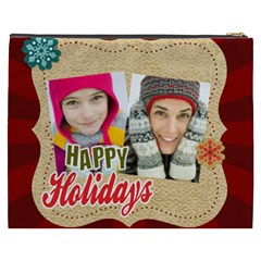 Merry Christmas By Merry Christmas   Cosmetic Bag (xxxl)   2tzzv7dxb8m1   Www Artscow Com Back