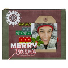 Merry Christmas By Merry Christmas   Cosmetic Bag (xxxl)   Qjeco0hlacav   Www Artscow Com Front
