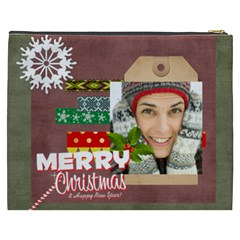 Merry Christmas By Merry Christmas   Cosmetic Bag (xxxl)   Qjeco0hlacav   Www Artscow Com Back