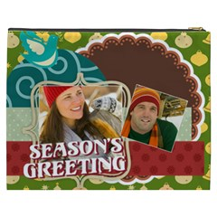 Merry Christmas By Merry Christmas   Cosmetic Bag (xxxl)   4zhndnc008d7   Www Artscow Com Back