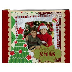 Merry Christmas By Merry Christmas   Cosmetic Bag (xxxl)   Zh2vdvxmklvj   Www Artscow Com Front