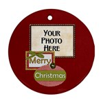 Peace Joy Love Round Ornament 2 - Ornament (Round)