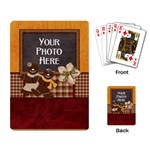 Gingerbread Men Playing Cards - Playing Cards Single Design