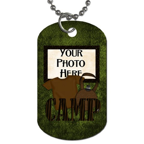 Camping Dog Tag By Lisa Minor   Dog Tag (one Side)   Fn8gh6yda4wq   Www Artscow Com Front