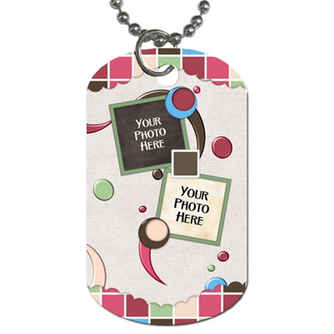 Bloop Bleep Dog Tag By Lisa Minor   Dog Tag (one Side)   Btifkyd2jsh8   Www Artscow Com Front