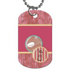 Sleepover Dog Tag By Lisa Minor   Dog Tag (two Sides)   S4nb79vhyfoa   Www Artscow Com Back