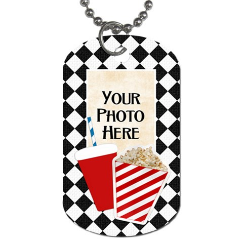 Movie Dog Tag By Lisa Minor   Dog Tag (one Side)   G6agq9fzqyuh   Www Artscow Com Front