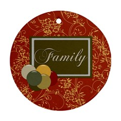 Family Ornament By Lisa Minor   Round Ornament (two Sides)   52flxxjofwm2   Www Artscow Com Back