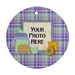 Foodie Ornament By Lisa Minor   Round Ornament (two Sides)   W35rzmtpmgtl   Www Artscow Com Front