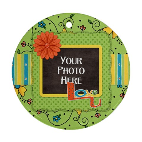 Love U Ornament By Lisa Minor   Ornament (round)   Eqxcadlv0756   Www Artscow Com Front